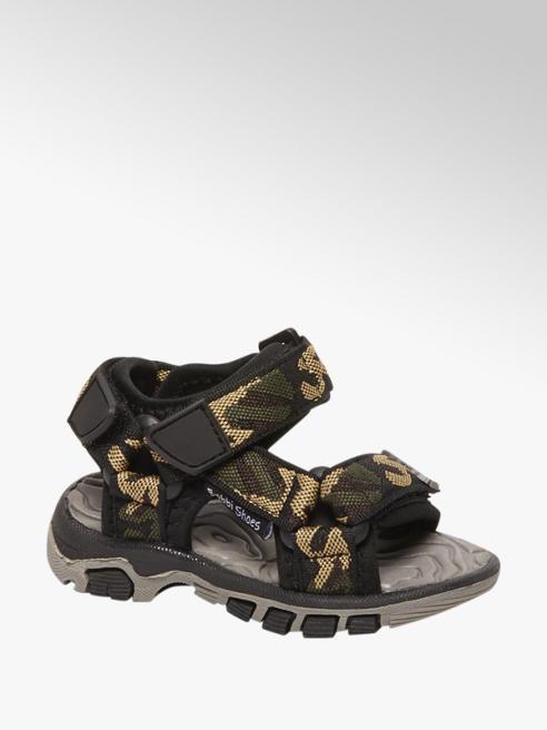 Bobbi-Shoes Camouflage sandaal velcrosluiting