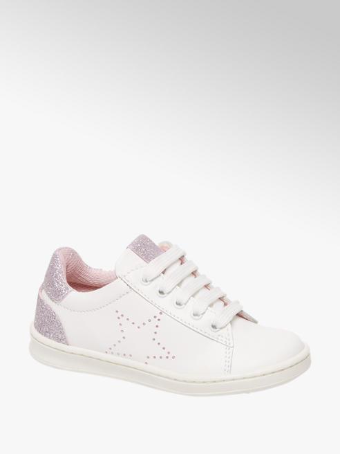 Cupcake Couture Witte leren sneaker glitters
