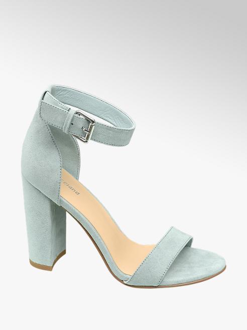 Graceland Mint Block Heeled Sandals