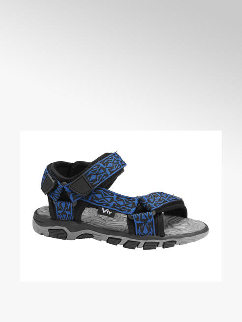 Victory Blauwe sandaal velcrosluiting