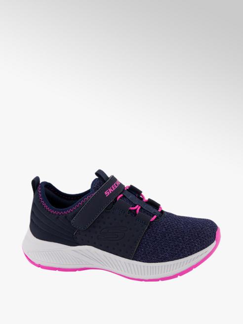 Skechers Donkerblauwe sneaker klittenband