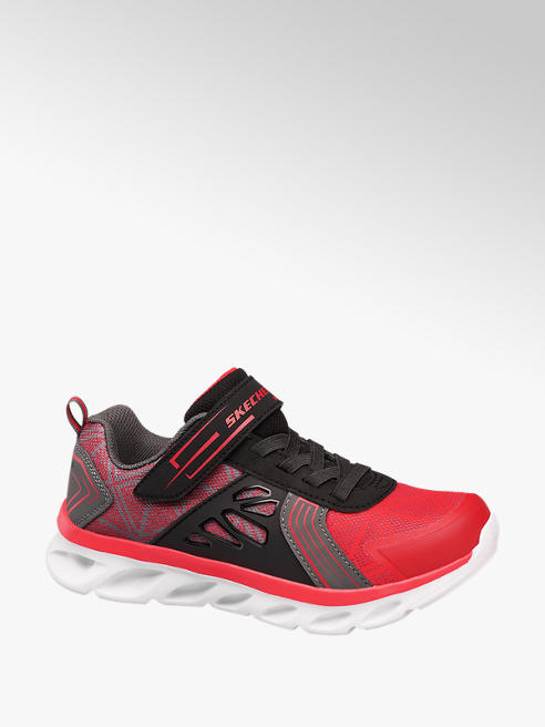 Skechers Rood grijze sneaker klittenband