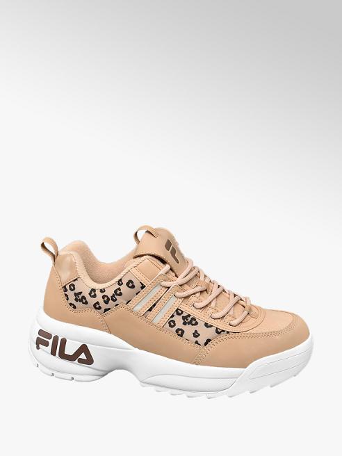 Fila Beige chunky sneaker panterprint