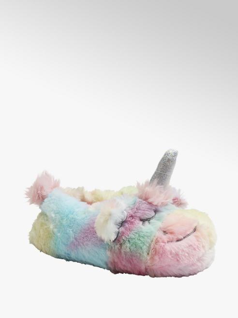 Casa mia Multicolor pantoffel eenhoorn