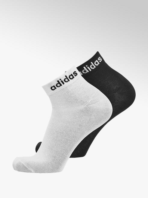 adidas Zwarte/witte heren enkelsokken