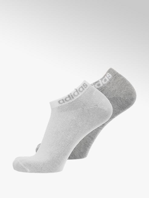 adidas Grijze/witte heren enkelsokken