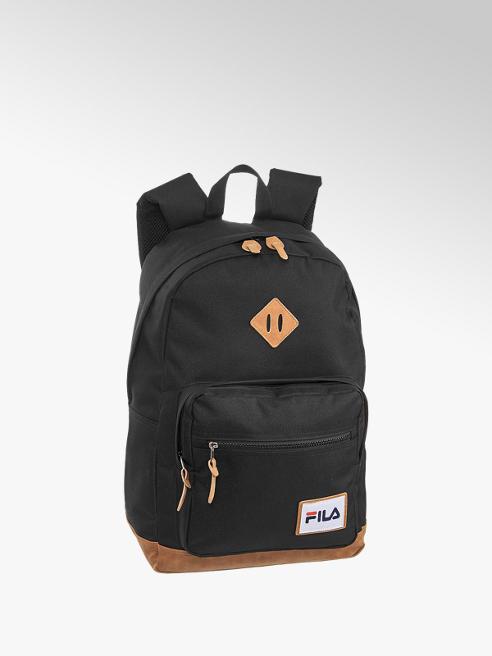 Fila czarny plecak Fila z brązowymi elementami