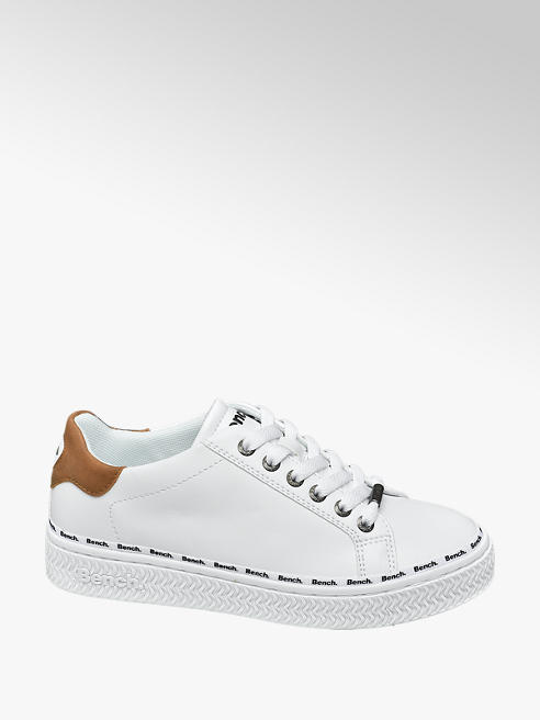 Bench Witte sneaker plateauzool