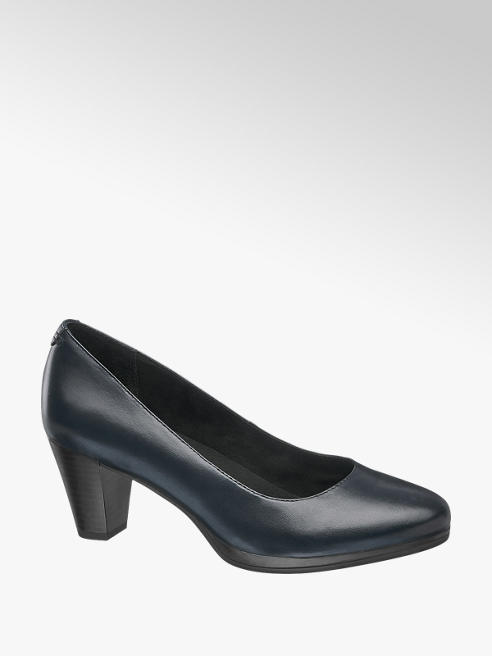 5th Avenue Donkerblauwe leren pump