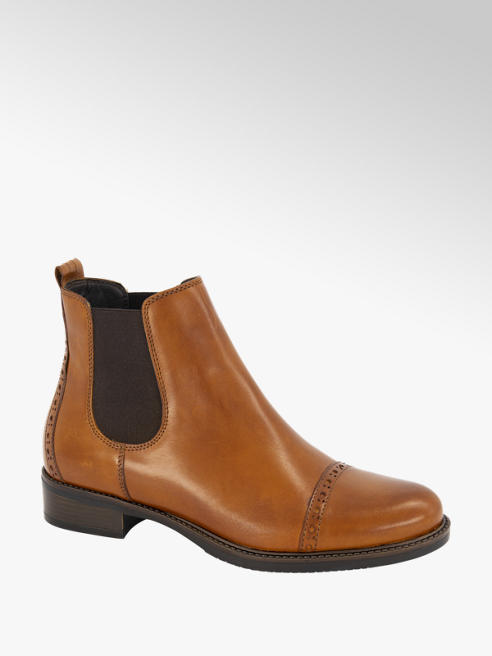 5th Avenue Bruine leren chelsea boot