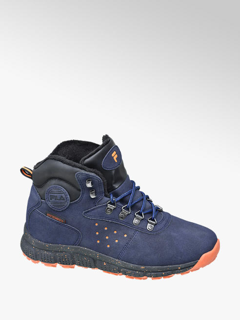 Fila Donkerblauwe veterboot fleece