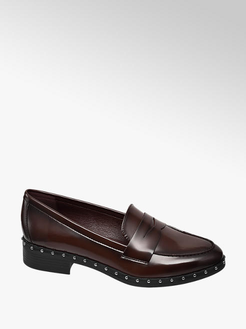 Graceland Bordeaux loafer studs
