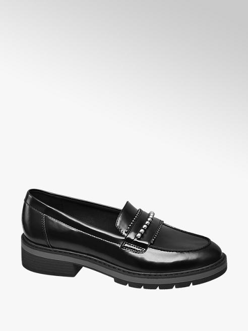 Graceland Zwarte loafer studs