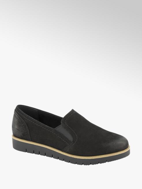 5th Avenue Zwarte suède loafer
