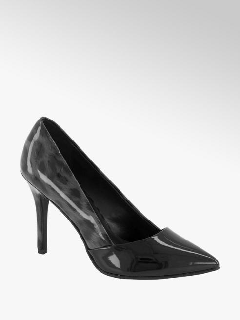 Graceland Zwarte pump panterprint