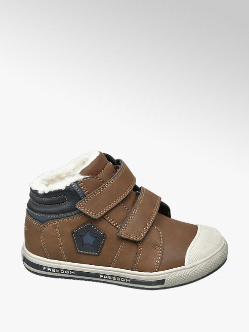Bobbi-Shoes Bruine sneaker warm gevoerd