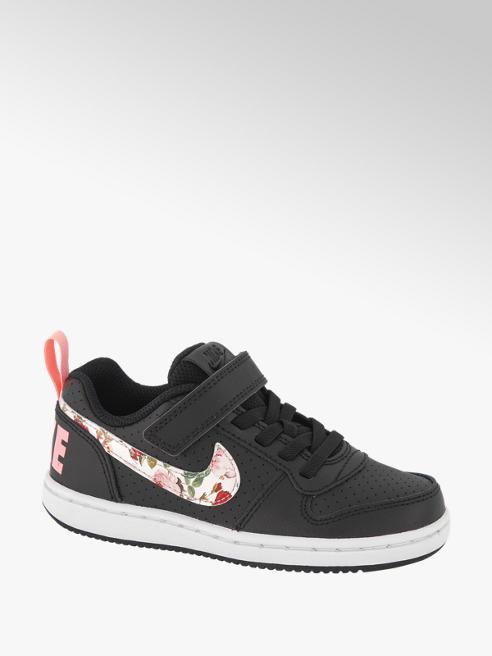 Nike Zwarte Court Borough klittenband