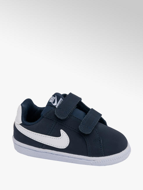 NIKE Toddler Boys Nike Court Royale Navy Touch Strap Trainers
