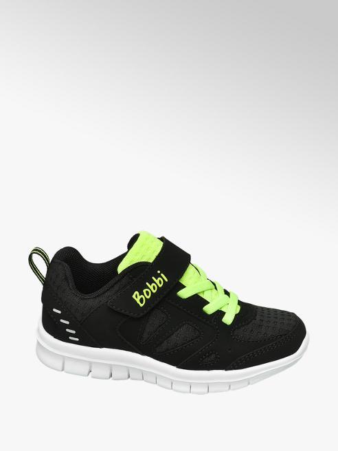 Bobbi-Shoes Zwarte sneaker elastische veter