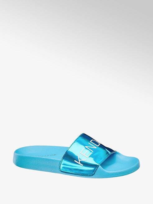 Kendall + Kylie Aquablauwe slipper