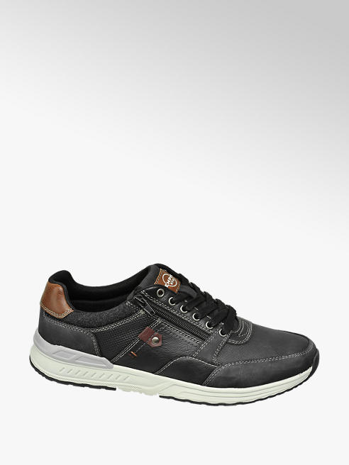 Memphis One Zwarte sneaker vetersluiting