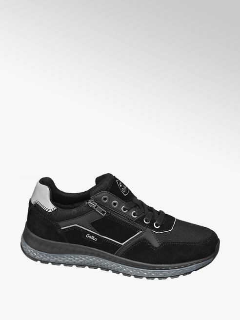 Gallus Zwarte suède sneaker