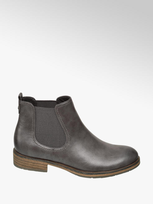 Dark Grey Chelsea Boots by Graceland