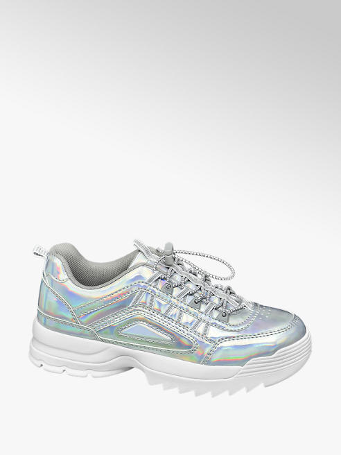 Star Collection Zilveren chunky sneaker holografisch