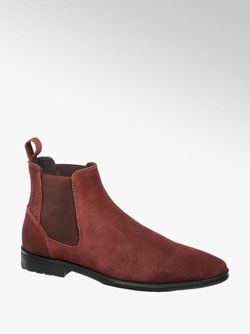 AM shoe Bordeaux suède chelsea boot