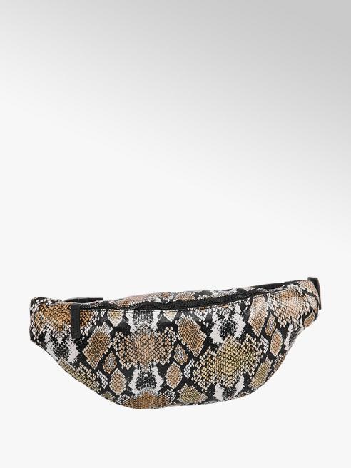 Graceland Beige fannypack slangenprint