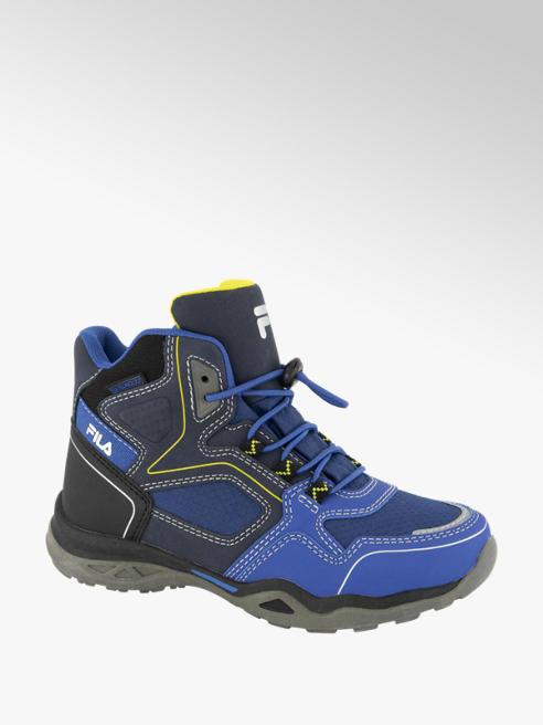 Fila Blauwe mid cut boot elastische veter