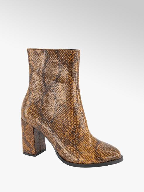 Vero Moda Cognac enkellaars slangenprint