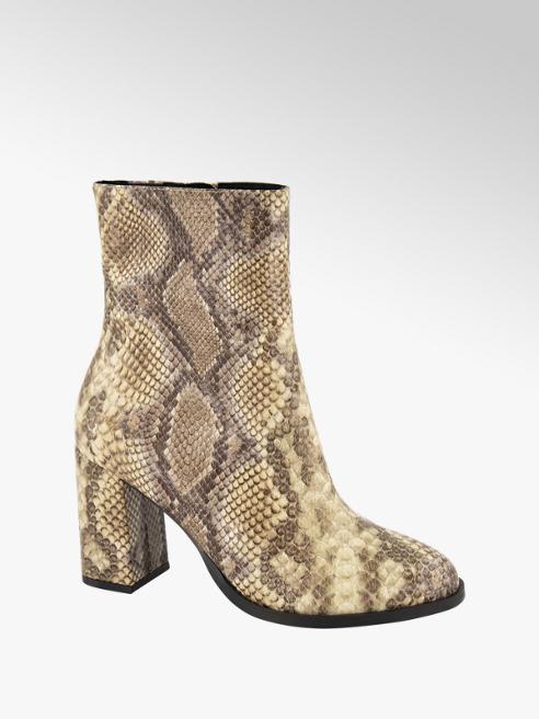 Vero Moda Beige enkellaars slangenprint