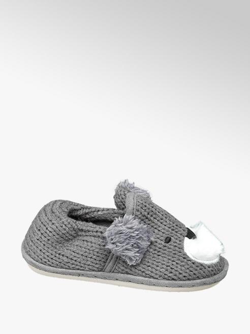 Bobbi-Shoes Grijze pantoffel koala