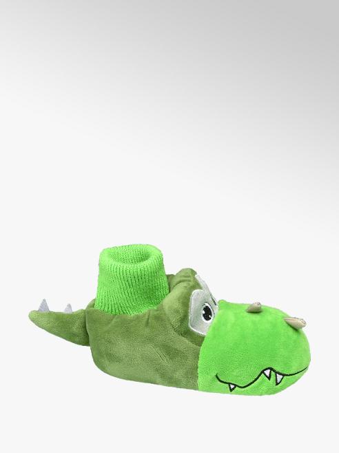 Bobbi-Shoes Groene draak pantoffel