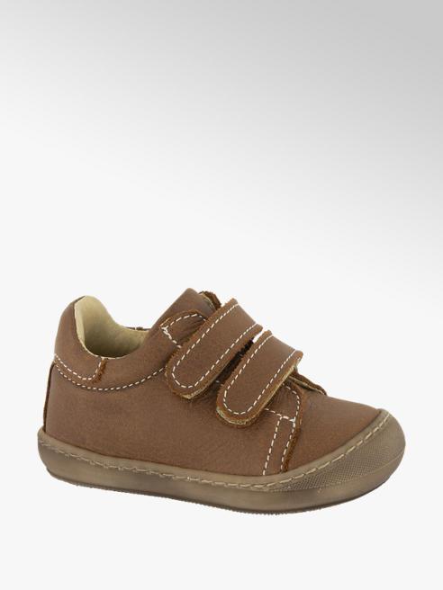 Bobbi-Shoes Bruine leren boot velcrosluiting