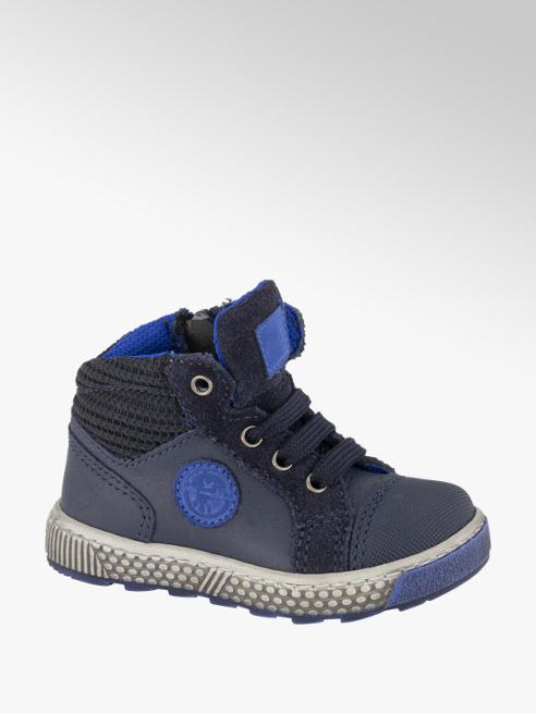 Bobbi-Shoes Donkerblauwe halfhoge leren sneaker