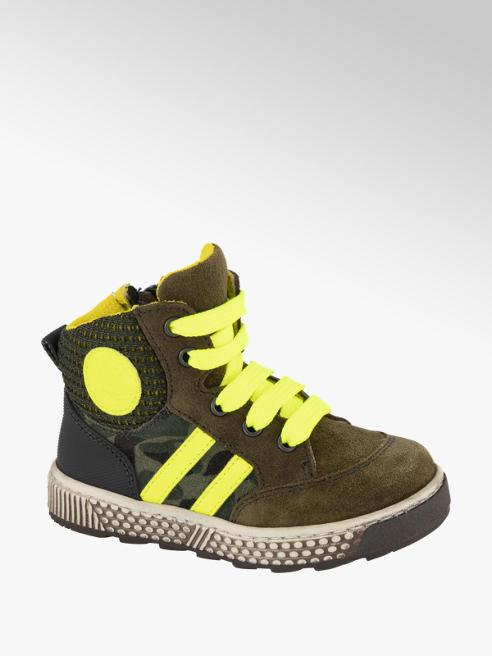 Bobbi-Shoes Groene halfhoge suède sneaker neon