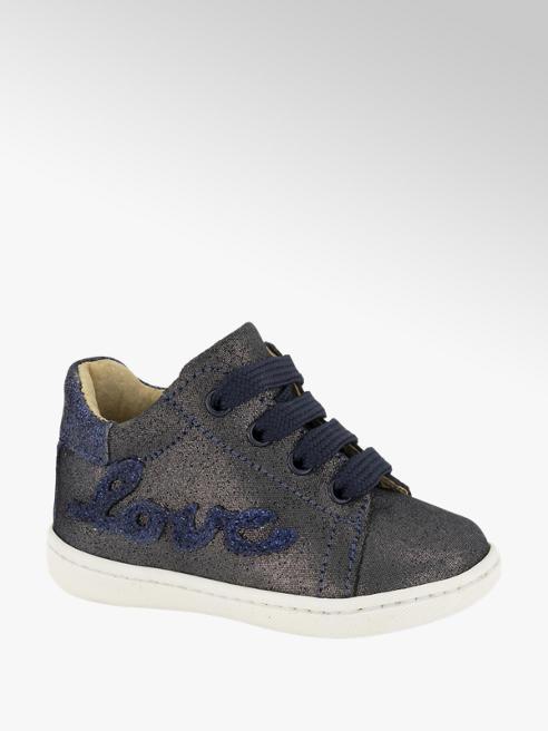 Cupcake Couture Blauwe leren sneaker glitter