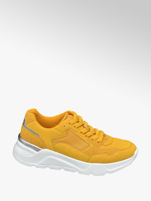 Graceland Oker gele chunky sneaker