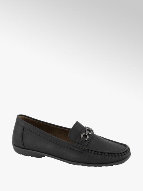 Easy Street Zwarte loafer gesp