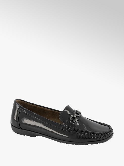 Easy Street Zwarte lak loafer gesp