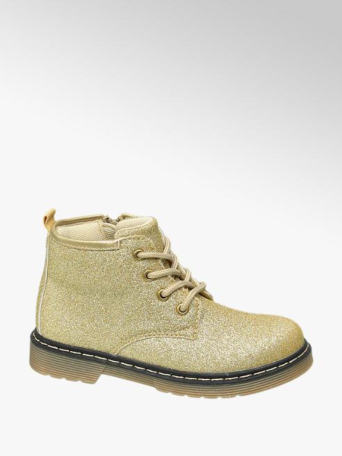 Cupcake Couture Gouden veterbootie glitter