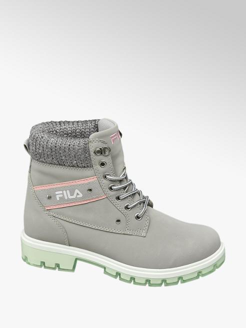 Fila Ladies Fila Grey Lace-up Boots