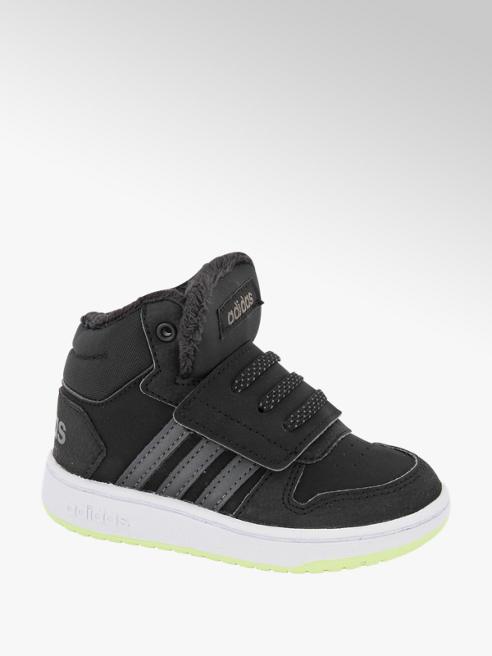 adidas Zwarte Hoops Mid 2.0 klittenband