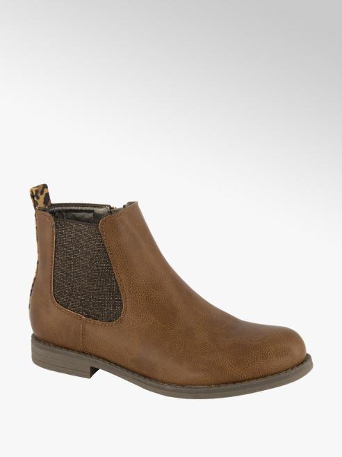 Graceland Bruine chelsea boot panterprint