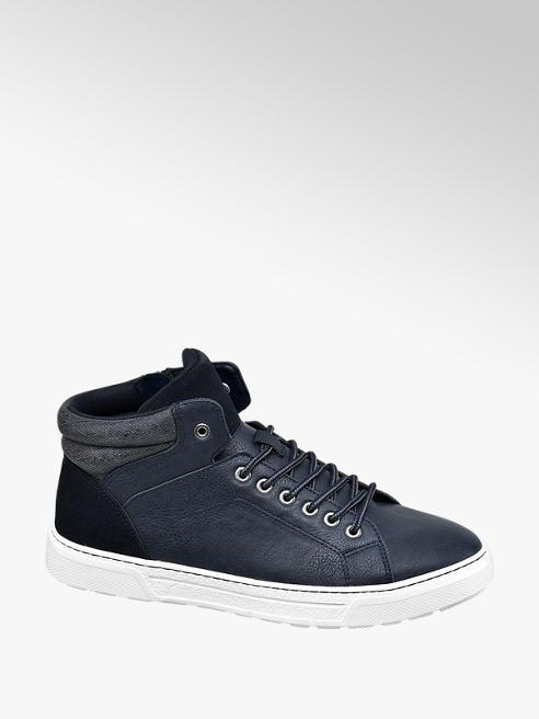 Venice Blauwe hoge sneaker