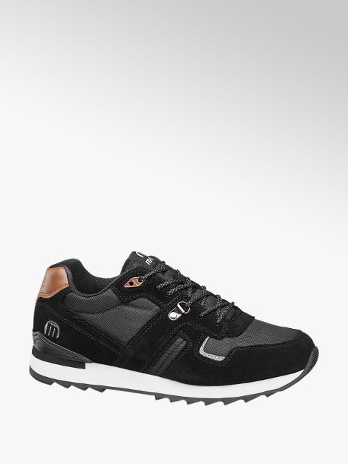 MTNG Zwarte suède sneaker