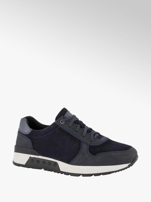 AM shoe Blauwe leren sneaker