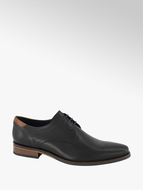 AM shoe Zwarte leren geklede veterschoen